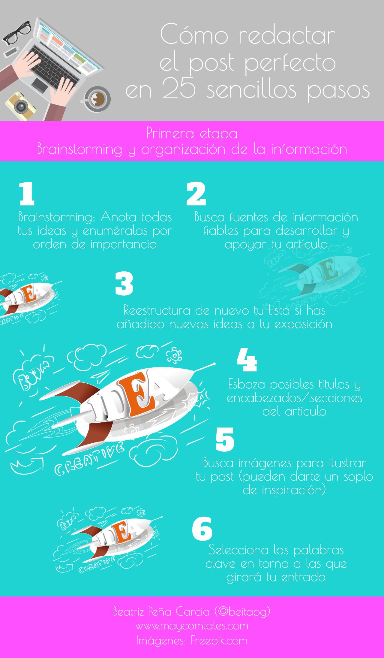 Infografía (I): Brainstorming y organización de la información