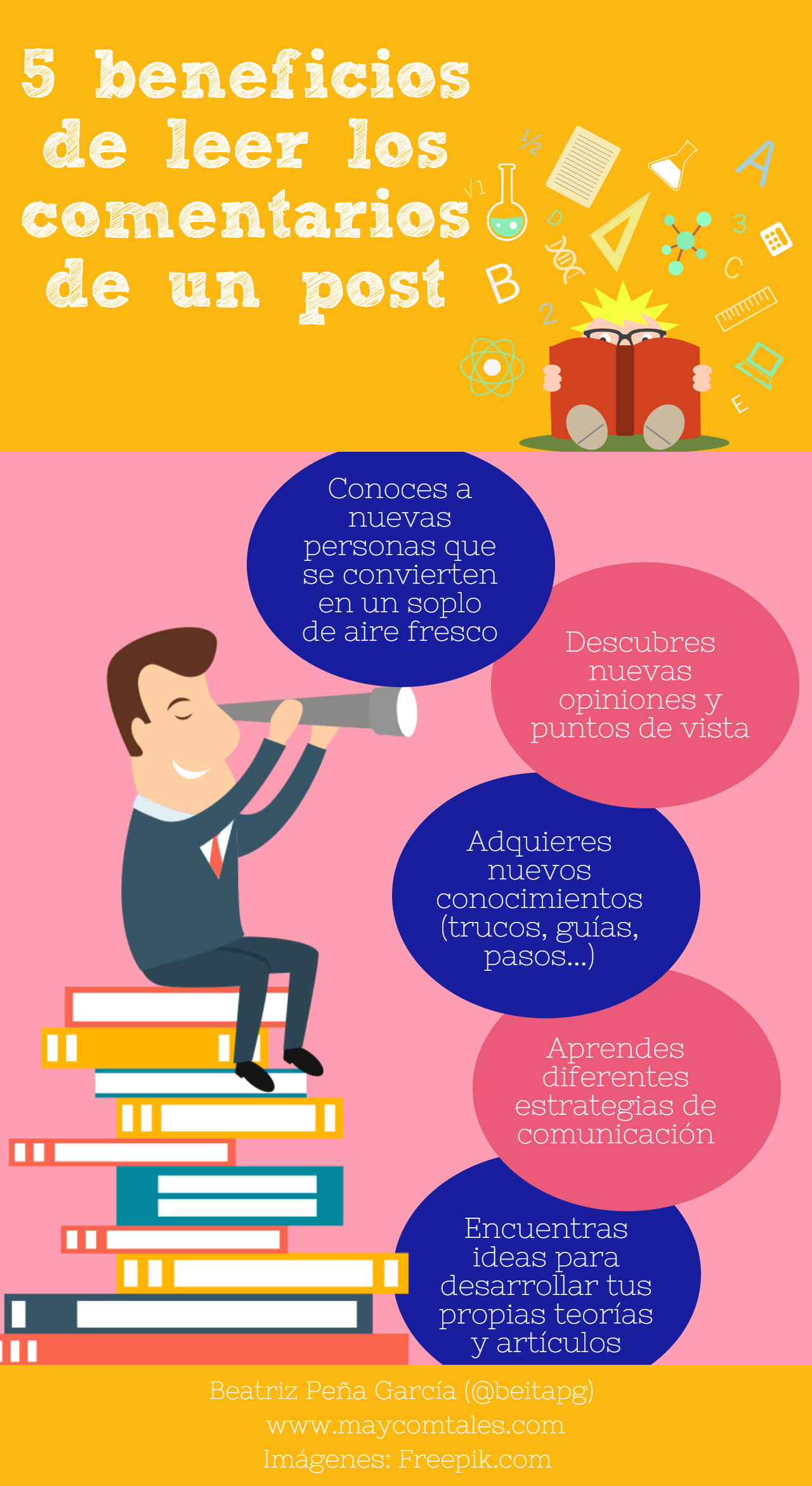 Infografia 5 beneficios leer comentarios post