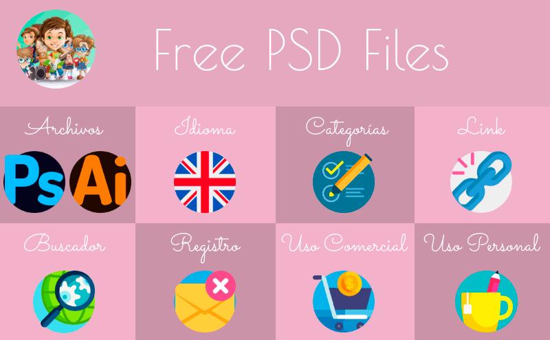 Cuadro resumen de Free PSD Files