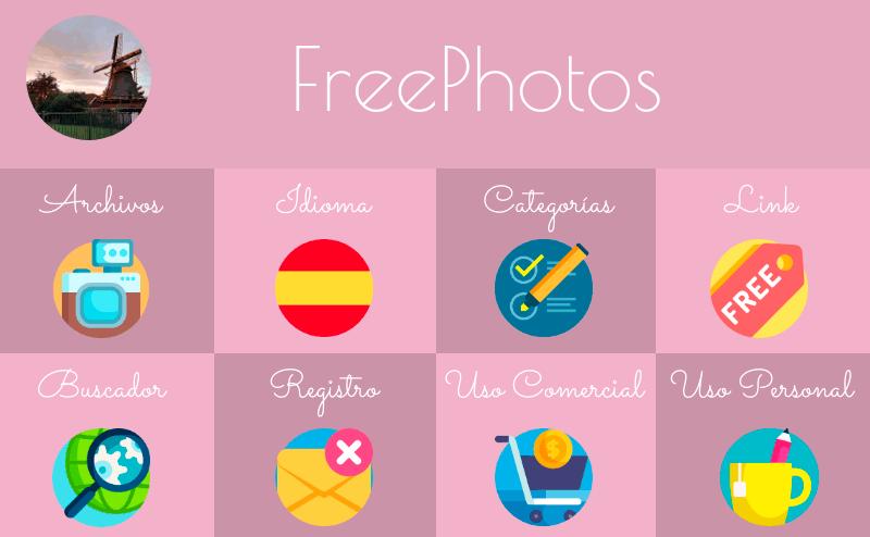 FreePhotos, banco de imágenes gratuito y editor en línea